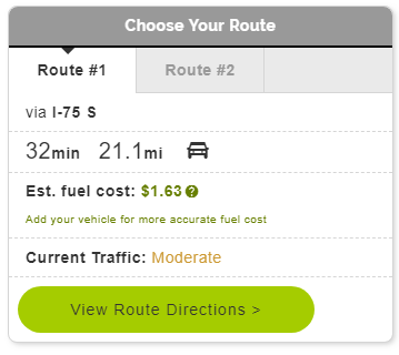 Mapquest Gas Calculator - Live Maps and Driving Directions