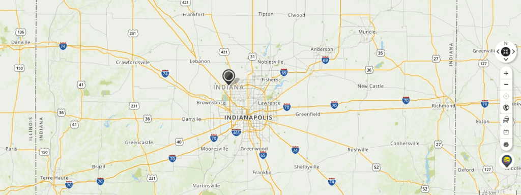Mapquest Map of Indiana and Driving directions
