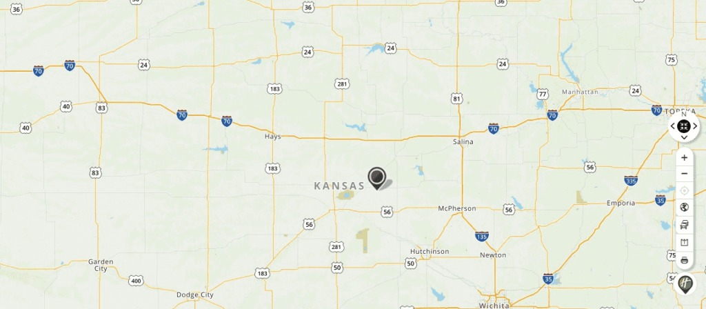 Mapquest Map of Kansas and Driving directions