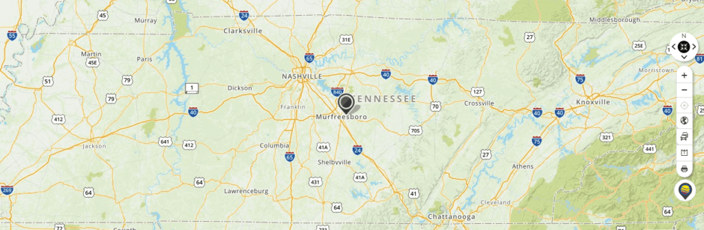 Mapquest Map of Tennessee and Driving directions