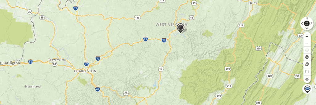Mapquest Map of West Virginia and Driving directions