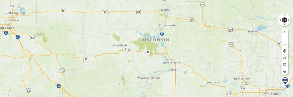 Mapquest Map of Wisconsin and Driving directions