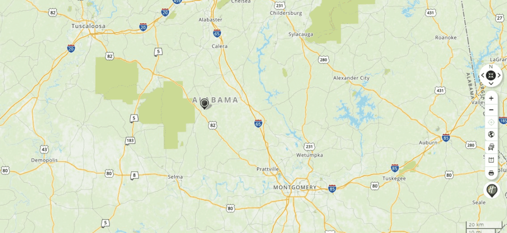 map of alabama, mapquest. google maps, yahoo maps, bing maps, driving directions